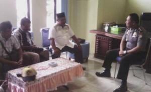 Rombongan PWI Perwaklan Natuna, diterima Kompol Agung Surya P ,Wakapolres Natuna diruang kerjanya