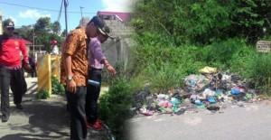 Lis Darmansyah SH, Walikota Tajungpinang tinjau drainase dan kebersihan.