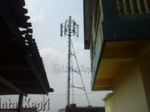 Tower BTS ilik Telkomsel di Jalan Taman Bahagia RT 03/07 Kelurahan Kemboja Kecamatan Tanjungpinang Barat