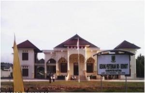 Gedung  pengganti gedung Sri Serindit setelah dilanjutkan pengerjaannya.