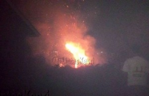 lahan seluas sekitar satu Hektare ludes dilalap api, di Kampung Mekar Jaya, Jalan Abadi RT 02/RW01, Kelurahan Batu 9 Kecamatan Tanjungpinang Timur, kota Tanjungpinang,(01/09).