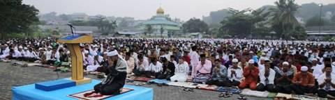 Shalat Idul Adha, di Lapangan Dewaruci Tanjungpinang, (24/09)