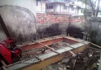 Inilah pebuatan tangki air di Akau Potong Lembu tanpa plank proyek