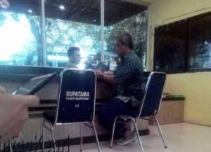Andi Cori saat melapor ke SPK Polres Tanjungpinang, (18/11)