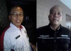 Dadang AG, Kadisdik Kota Tanjungpinang (Kiri) dan M Reza Fahlevi, orang tua siswa yang diduga dikroyok teman sekolahnya (Kanan)