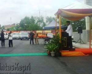 Walikota Tanjungpinang, Lis Darmansyah saat Pidato Sambutan Soft Opening Hotel CK