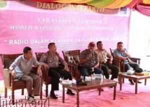 Walikota Tanjungpinang, Lis Darmansyah menghadiri Sarasehan Hari Radio Sedunia yang digelar Pemerintah Kota Tanjungpinang bekerjasama dengan RRI Tanjungpinang, Sabtu (13/2)