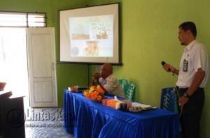 Kepala BNNK, AKBP T.A Rahman (Kemeja Putih) Saat Menyampaikan Tentang Bahaya Narkoba
