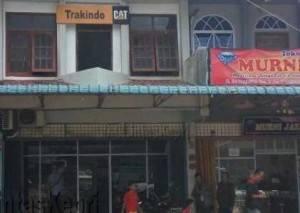Inilah kantor Trackindo CAT yang terbakar di batu 9 Tanjungpinang