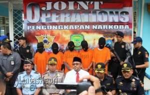 KPPBC Tanjungpinang Saat Gelar Press Rilis Penangkapan Sabu
