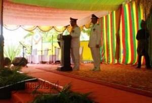 Bupati saat menyampaikan sambutan didampingi Wakil Bupati Karimun