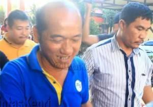 Djodi Wirahadikusuma, pelaku dugaan pemalsuan surat tanah di kawasan Sei Carang resmi ditahan, Jumat (11/3).