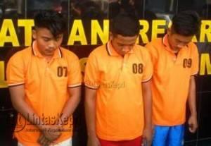 Tiga Pelaku yang dibekuk Polisi