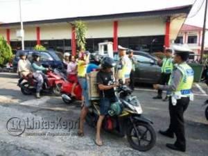 Razia simpatik seligi Polres Tanjungpinang, Rabu (16/3)