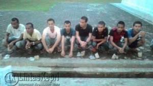 """Inilah Delapan TKIB yang dipulangkan secara """"eksklusif"""" oleh Kemensos RI Dembarkasi Tanjungpinang, melalui Pelabuhan SBP, Sabtu (23/4)"""