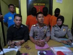 Kapolsek Tanjungpinang Kota AKP Jupen Simanjuntak saat Press Release Tiga Kasus Polsek Kota Tanjungpinang, Jumat (29/4) (f.ivan)