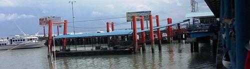 Inilah Ponton sandar kapal di Pelabuhan Sri Bintan Pura Tanjungpinang yang roboh