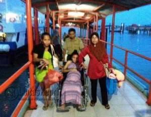 Inilah WNI Migran Korban Perdagangan Orang yang di Pulangkan dari Malaysia dalam Kondisi Hamil 9 Bulan, melewati Pelabuhan Internasional SBP Tanjungpinang, Rabu (11/5).