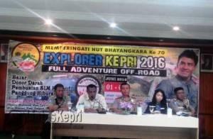 Kapolres Tanjungpinang dan Instansi Terkait saat Konferensi Pers HUT Bhayangkara Ke-70