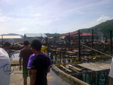 Lokasi Kebakaran kebakaran di Desa Sri Tanjung, Kecamatan Siantan, Kabupaten Kepulauan Anambas.