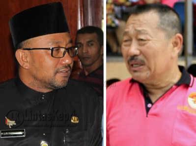 Walikota Tanjungpinang, Lis Darmansyah dan Ketua Kadin Kota Tanjungpinang, Bobby Jayanto