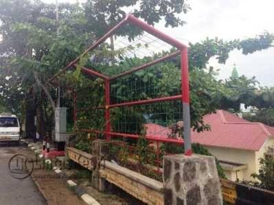 """Inilah """"Taman Sakti"""" karya Dinas Kebersihan Pertamanan dan Pemakaman Tanjungpinang di Jalan Diponegoro"""