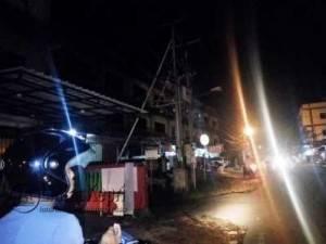Inilah travo PLN di Jalan Pramuka, Lorong Tanama meledak, Jumat (6/5).