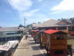 Minimnya jaringan terlihat tidak adanya tower di Pemukiman Penduduk Pulau Penyengat