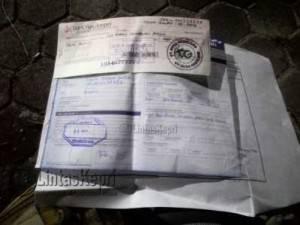 Secarik cek kosong, Bank BRI atas nama CV Duta Gemilang yang dipalsukan Buyung Tanjung kepada Sagito