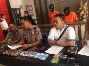 Wakapolres Tanjungpinang, Kompol Agus Joko Nugroho saat Press Release di Polresta Tanjungpinang, Rabu (28/6).