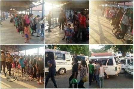 291 WNI-MKPO dideportasi dari Malaysia melalui pelabuhan Sri Bintan Pura (SBP) Tanjungpinang, sekira pukul 17.15 WIB, Rabu (29/6).