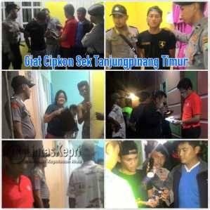 Pelaku saat diamankan Polsek Tanjungpinang Timur, Sabtu (16/7)