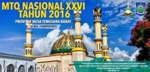 MTQ Nasional XXVI 2016 yang dilaksanakan di Lombok, Nusa Tenggara Barat