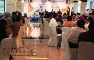 Suasana acara seremonial di CK Hotel yang dihadiri para pejabat dan SKPD