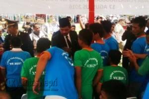 Napi di Lapas Tanjungpinang saat dikunjungi Gubernur Kepri Nurdin Basirun.
