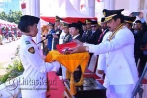 Upacara Detik-Detik Proklamasi di pimpin langsung Gubernur Kepri Nurdin Basirun
