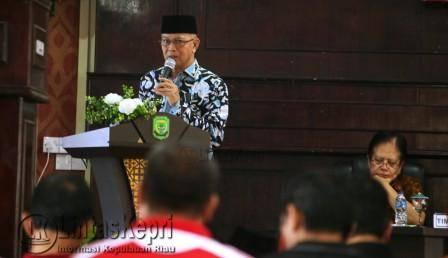 Wakil Walikota Tanjungpinang, Syahrul dalam paparannya tentang penilaian Anugrah Parahita Ekapraya (APE).