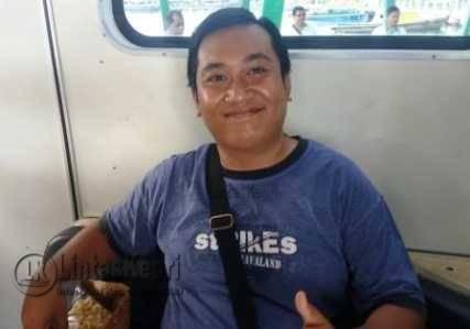 Aris, rombongan guru TK yang berasal dari Jakarta usai mengunjungi Pulau Penyengat, Kepri.