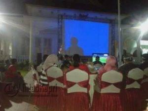 Gubernur dan Danrem 003 WP Kepri nonton bareng final AFF Suzuki Cup, Rabu (14/12) malam.