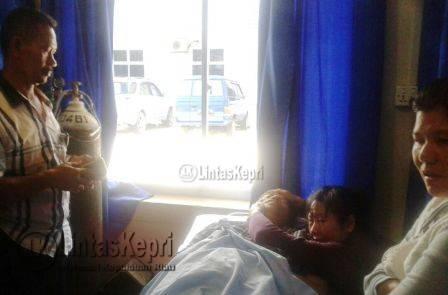 Jasad Sugeng alias Sun Heng alias Aseng (50) saat berada di rumah sakit.